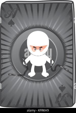 Poker Card Ninja Theme Vector Graphic Art Design Illustration Stock Vector Image Art Alamy