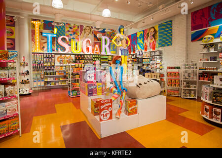 The Colorful Interior Wide View Of Itu0027Sugar, A Candy By The Pound Chain