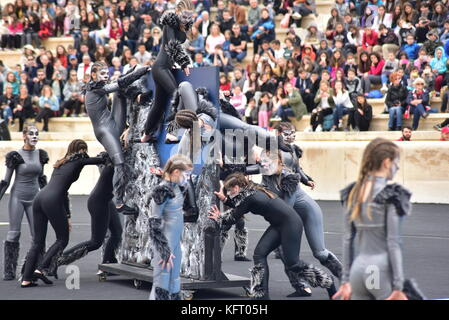 Athens, Greece. 31st Oct, 2017. During the Greek Sport and Cultural event. The Handover Ceremony of the Olympic - Stock Photo