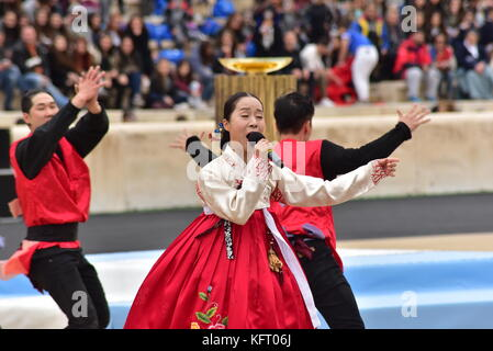 Athens, Greece. 31st Oct, 2017. During the Republic of Korea's Cultural event. The Handover Ceremony of the Olympic - Stock Photo