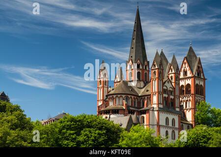 Romanesque cathedral of Limburg, Hesse, Germany - Stock Photo