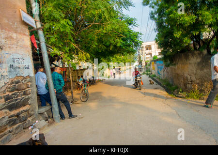 JAIPUR, INDIA - SEPTEMBER 19, 2017: Unidentified people walking in the streets in Jaipur - Stock Photo