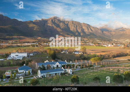Mullineux and Leeu Family Wines Estate, Franschhoek, Western Cape, South Africa - Stock Photo