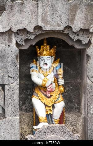 Statue in an Indonesian temple - Pura Ulun Danu Batur - Bali - Indonesia - Stock Photo