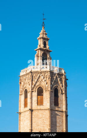 The Micalet. Cathedral, Valencia, Spain. - Stock Photo