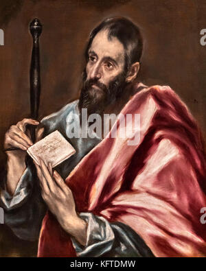 St Paul by El Greco (Domenikos Theotokopoulos, 1541-1614), oil on canvas, c.1598-1600 - Stock Photo