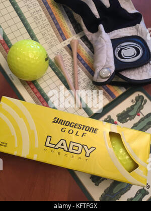 Golf Still Life, USA - Stock Photo