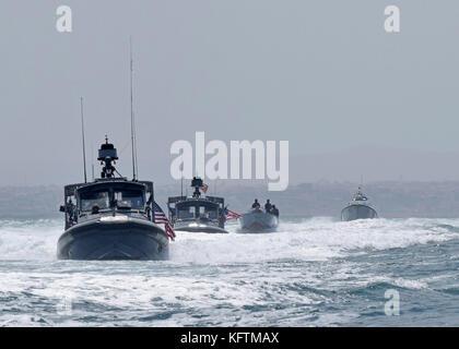 Sailors assigned to Coastal Riverine Squadron (CRS) 1 - Stock Photo
