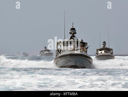 Sailors assigned to Coastal Riverine Squadron (CRS) 1 - Stock Photo