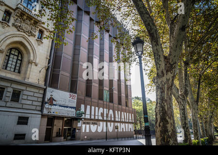 Outdoor view of Naval Museum of Madrid - Stock Photo