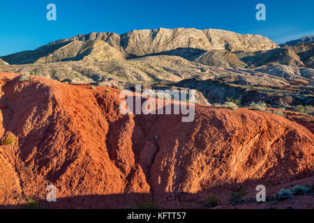 Rock formations, unnamed hills, view from Northshore Road, Lake Mead National Recreation Area, Nevada, USA - Stock Photo