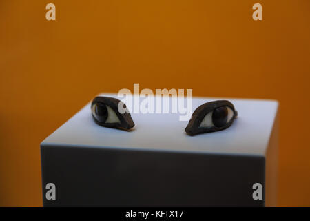 Naples National Archaeological Museum, Artificial Eyes for Mummy, Naples, Italy - Stock Photo