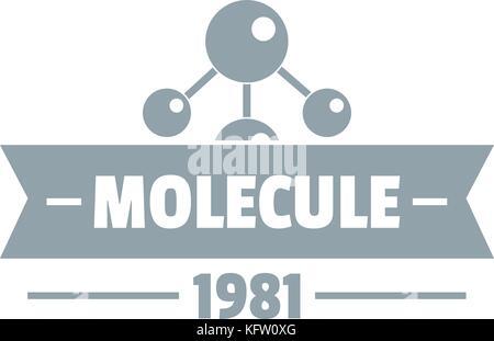 Molecule Science Logo Simple Gray Style Stock Vector Art