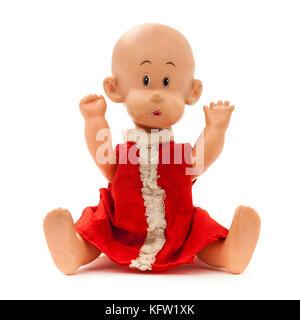 Vintage 1960's Perfekta hard plastic doll, made in Hong Kong - Stock Photo
