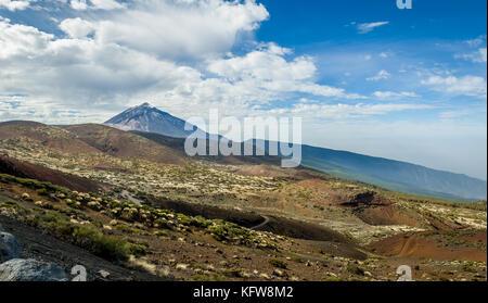 Panoramic landscape of Teide mountain park - Stock Photo