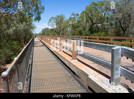 Main crossing over  mighty Fitzroy River near Derby,North  Western Australia , is  Willare  the 1,280-foot-long - Stock Photo
