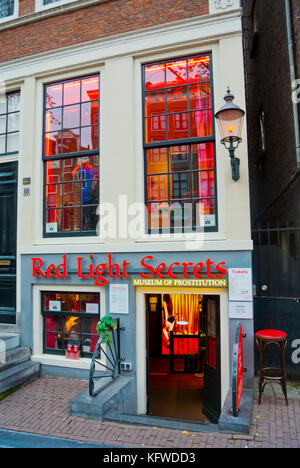 Red Light Secrets, museum of prostitution, red light district, Amsterdam, The Netherlands - Stock Photo