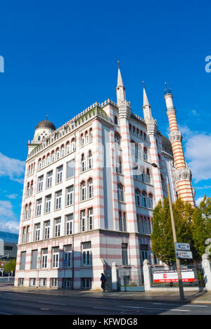 Yenidze, former tobacco factory, now office buildings, from 1909, Dresden, Saxony, Germany - Stock Photo