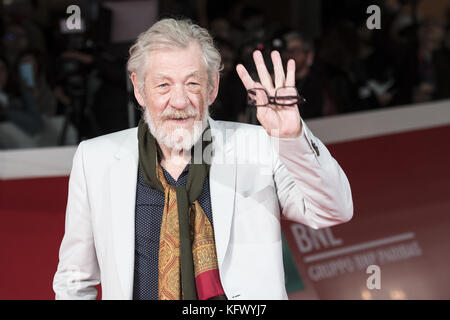 Rome, Italy. 1st November, 2017. Ian McKellen attending the red carpet during the Rome Film Fest Credit: Silvia - Stock Photo