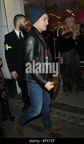 London, UK. 01st Nov, 2017. Ed Westwick attends Nasty Gal UK Pop Up Launch Party in Carnaby Street Credit: WFPA/Alamy - Stock Photo