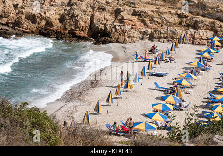 Seaside resort of Sisi close to Malia, Crete, Greece - Stock Photo