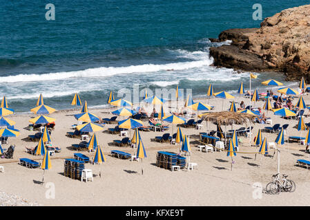 Seaside resort of Sisi close to Malia, Crete, Greece - Stock Photo