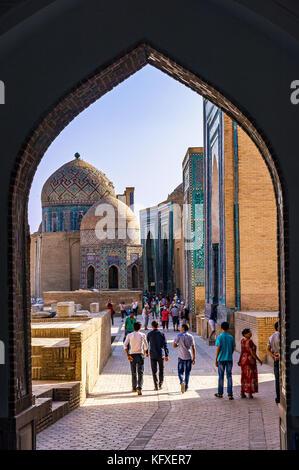 Necropolis of Shah-i-Zinda - Samarkand, Uzbekistan - Stock Photo