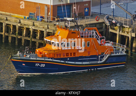 Newcastle, United Kingdom - October 5th, 2014 - RNLI lifeboat 17-20 Spirit of Northumberland at her moorings - Stock Photo