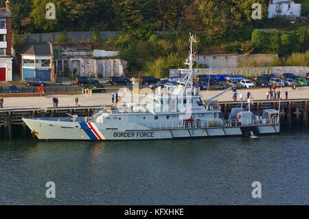 Newcastle, United Kingdom - October 5th, 2014 - UK border force cutter HMC Searcher at her moorings - Stock Photo