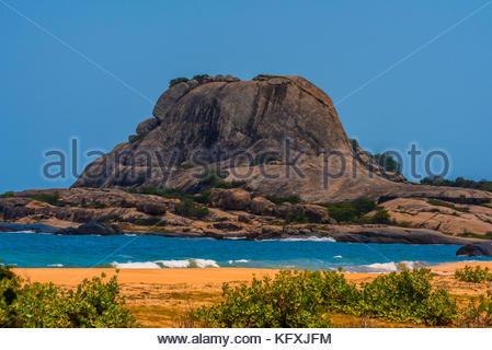 Beach, Yala National Park, Southern Province, Sri Lanka. - Stock Photo