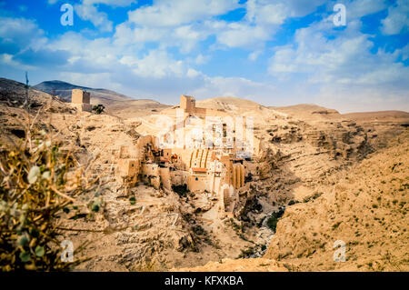 The Great Lavra of St. Sabbas the Sanctified (Mar Saba) - Stock Photo