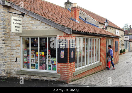 Helmsley Traditional Sweet Shop, Helmsley, North Yorkshire, UK - Stock Photo