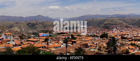 City view, Sucre, Chuquisaca, Bolivia - Stock Photo