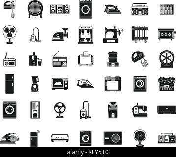 Appliances icon set, simple style - Stock Photo