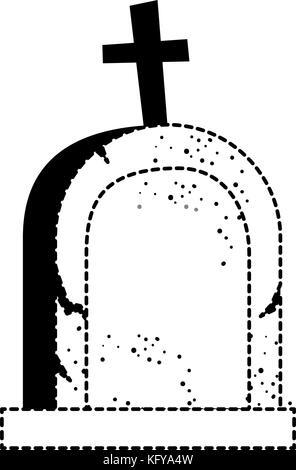 grave of dead icon vector illustration design - Stock Photo