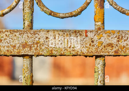 part of an old fence - close-up - Stock Photo