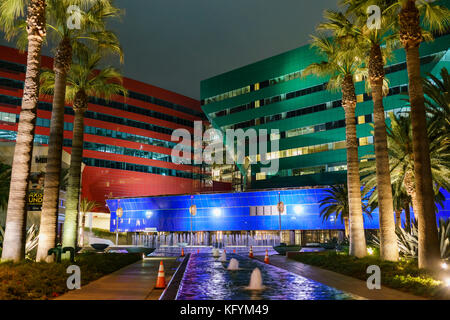 Los Angeles, OCT 31: Night view of the special Pacific Design Center on OCT 31, 2017 at West Hollywood, Los Angeles, - Stock Photo