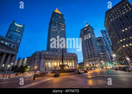 Foley square New York, Manhattan, Triumph of the Human Spirit monument - Stock Photo