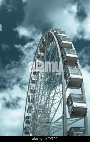 Ferris Wheel, Torquay, Devon, England, UK - Stock Photo