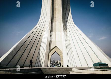 Usage Worldwide · Tehran, Iran   October 30, 2014. The Azadi Tower In Tehran  City.