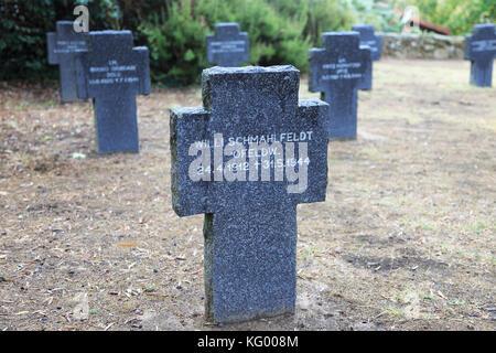 German war cemetery, Cuacos de Yuste, La Vera, Extremadura, Spain - Stock Photo