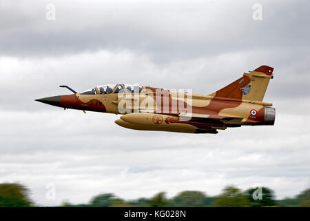 French Air Force Dassault Mirage 2000D 652/3-XN  EC03.003/ Couteau Delta takes-off to start its display at the RIAT,RAF - Stock Photo