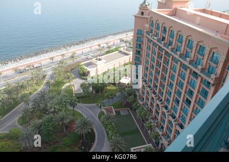 Amazing sea view from the 18th floor of Atlantis the Palm Dubai - Stock Photo