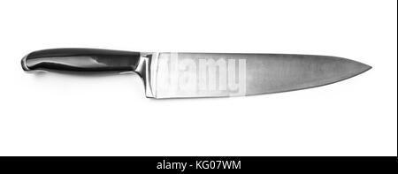 Kitchen knife isolated with clipping path - Stock Photo