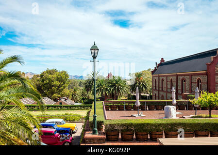 Adelaide, Australia - January 16, 2016: Chateau Tanunda winery viewed from main entrance. It was established in - Stock Photo
