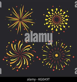 Fireworks icons set - Stock Photo