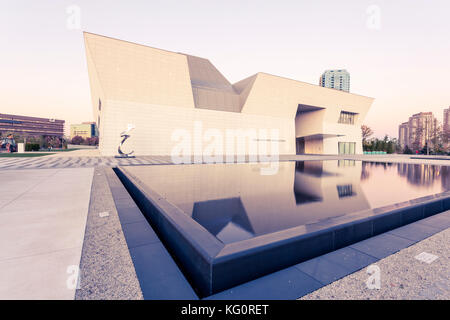 Toronto, Canada - Oct 19, 2017: Exterior view of the Aga Khan Museum in Toronto, Canada - Stock Photo
