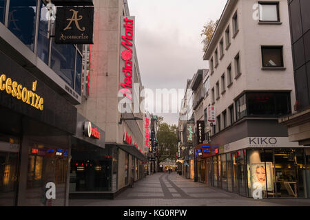 Cologne, Germany - October 29, 2017: Cologne pedestrian zone - Stock Photo