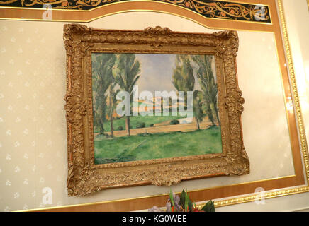 A general view of a painting by Claude Monet at Istana Nurul Iman Palace as the Prince of Wales and Duchess of Cornwall - Stock Photo