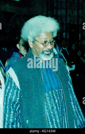 Nobel Prize winner for Literature Wole Soyinka at Westminster Abbey in London 1998 - Stock Photo